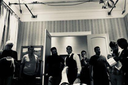 Том Харди и Мэтт Дилон на съемках фонзо