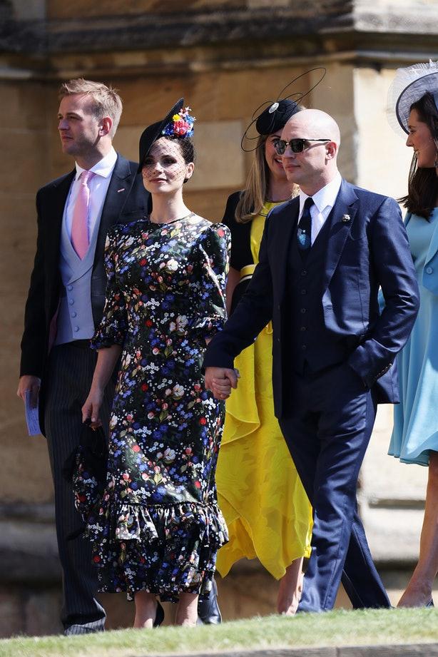 Том Харди и Шарлотта Райли на свадьбе принца Гарри
